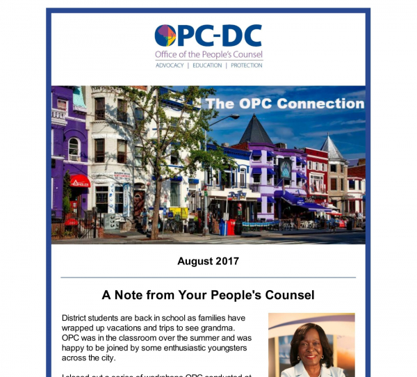 The OPC  CONNECTION - August 2017